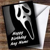 Scream Scary Horror Customised Birthday Card