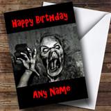 Scary Horrible Lady Monster Horror Customised Birthday Card