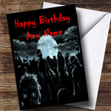 Zombies And Monsters Scary Funny Customised Birthday Card