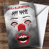 Pennywise Clown It Killer Customised Birthday Card