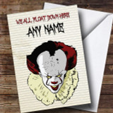 Pennywise Clown It Float Customised Birthday Card