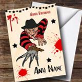 Freddy Krueger Scary Customised Birthday Card