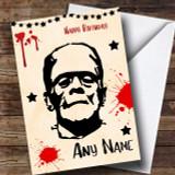 Frankenstein Scary Customised Birthday Card