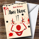 It Pennywise Clown Customised Birthday Card