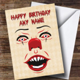 Pennywise Clown It Customised Birthday Card