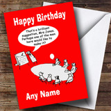 Funny Offensive Sexist Customised Birthday Card
