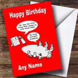 Funny Insulting Joke Customised Birthday Card