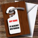 Funny Do Not Disturb Customised Birthday Card