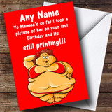 YO MAMA 6 INSULTING & OFFENSIVE FUNNY Customised BIRTHDAY CARD - 9392