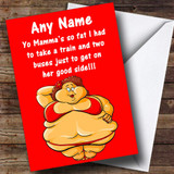 YO MAMA 5 INSULTING & OFFENSIVE FUNNY Customised BIRTHDAY CARD - 9391