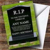 Gravestone Getting Old Insulting & Offensive Funny Customised Birthday Card