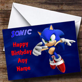 Sonic The Hedgehog Customised Birthday Card