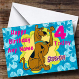 Blue Scooby Doo Customised Birthday Card