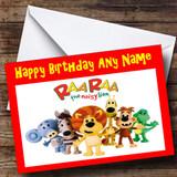 Rara The Noisy Little Lion Customised Birthday Card