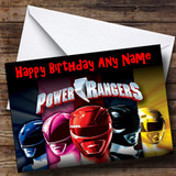 Power Rangers Customised Birthday Card
