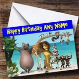 Madagascar Customised Birthday Card