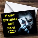 Batman The Joker Customised Birthday Card