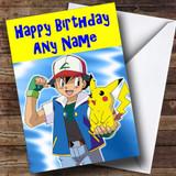 Pokemon & Pikachu Customised Birthday Card