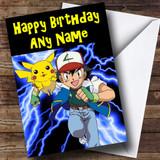 Pokemon Customised Birthday Card