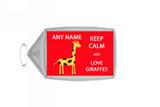 Keep Calm And Love Giraffes Large Keyring