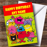 Mr Men Customised Children's Birthday Card