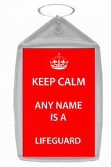 Lifeguard Keep Calm Keyring