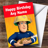 Fireman Sam Customised Children's Birthday Card