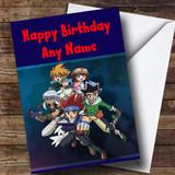 Beyblade Metal Customised Children's Birthday Card