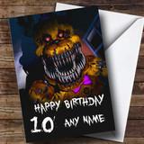 Customised Fnaf Five Nights At Freddy's Nightmare Fredbear Birthday Card