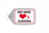 Love Heart Slovenia Keyring