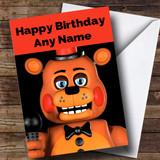 Customised Fnaf Five Nights At Freddy's Toy Freddy Children's Birthday Card
