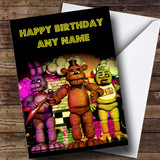 Customised Five Nights At Freddy's Fnaf Party Children's Birthday Card