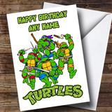 Customised White Teenage Mutant Ninja Turtles Children's Birthday Card