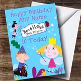 Customised Ben & Hollys Little Kingdom Blue Children's Birthday Card
