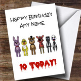 Customised Five Nights At Freddy's Fnaf Children's Birthday Card