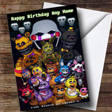Customised Fnaf Five Nights At Freddy's Children's Birthday Card