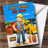 Customised Bob The Builder Any Age New Children's Birthday Card