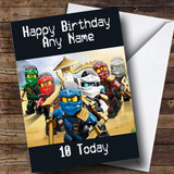 Customised Lego Ninjago Black Children's Birthday Card