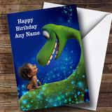 Customised The Good Dinosaur Children's Birthday Card
