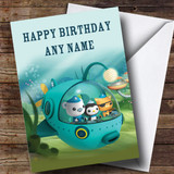 Customised The Octonauts Sub Children's Birthday Card
