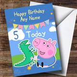 Customised George Peppa Pig Children's Birthday Card