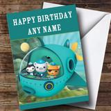 Customised Green Octonauts Children's Birthday Card