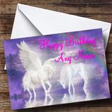 Beautiful Unicorns Customised Birthday Card