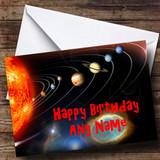 The Solar System Customised Birthday Card