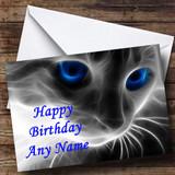 Mystical Cat Customised Birthday Card