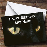 Black Cats Eyes Customised Birthday Card