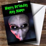 Alien ET Customised Birthday Card