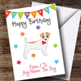 To From Pet Dog Jack Russel Terrier Customised Birthday Card