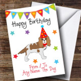 To From Dog King Charles Spaniel Customised Birthday Card
