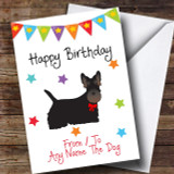 To From Pet Dog Scottish Terrier Customised Birthday Card